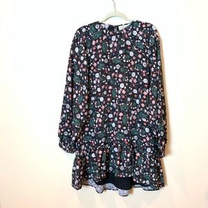 1st sight:  floral flounce hem dress -NWT
